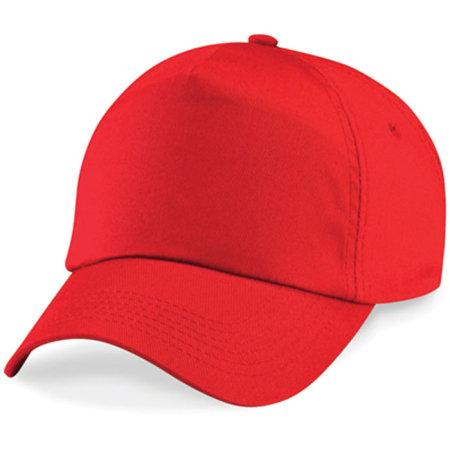 Junior Original 5-Panel Cap in Bright Red von Beechfield (Artnum: CB10B