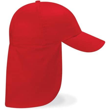 Junior Legionnaire Style Cap in Classic Red von Beechfield (Artnum: CB11b