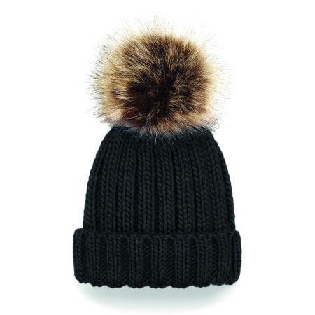 Infant Fur Pop Pom Chunky Beanie von Beechfield (Artnum: CB412a