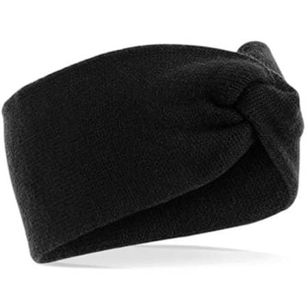 Twist Knit Headband in Black von Beechfield (Artnum: CB432
