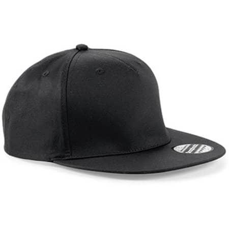 5-Panel Snapback Rapper Cap in Black von Beechfield (Artnum: CB610