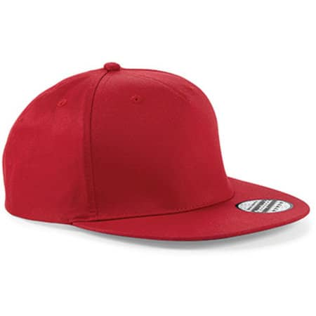 5-Panel Snapback Rapper Cap in Classic Red von Beechfield (Artnum: CB610