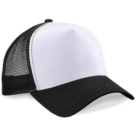 Snapback Trucker in Black|White von Beechfield (Artnum: CB640