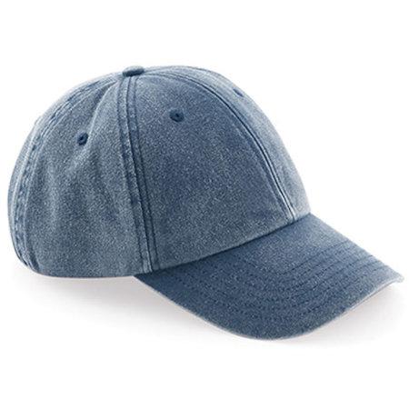 Low Profile Vintage Cap in Vintage Denim von Beechfield (Artnum: CB655