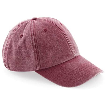 Low Profile Vintage Cap in Vintage Red von Beechfield (Artnum: CB655