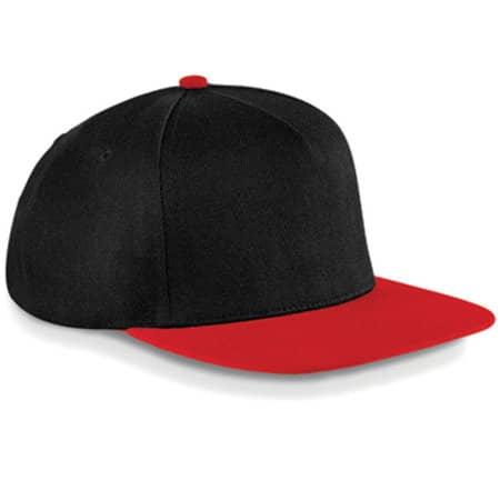 Original Flat Peak Snapback in Black|Classic Red von Beechfield (Artnum: CB660