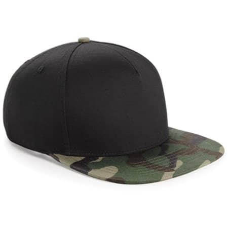 Camo Snapback in Black|Jungle Camo von Beechfield (Artnum: CB691