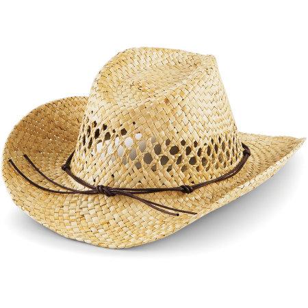 Straw Cowboy Hat von Beechfield (Artnum: CB735