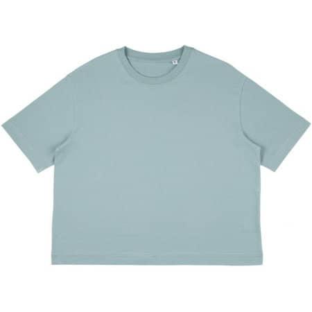 Womens Organic Oversized Crop T-Shirt in Slate Green von Continental Clothing (Artnum: COR26