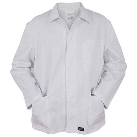 Classic Long Work Jacket in White von Carson Classic Workwear (Artnum: CR701