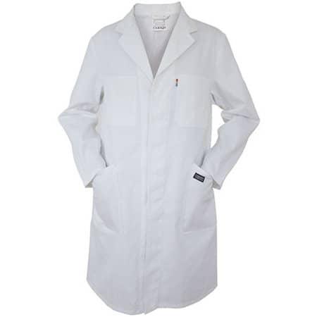 Classic Work Coat in White von Carson Classic Workwear (Artnum: CR703