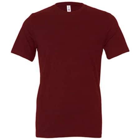 Unisex Jersey Crew Neck T-Shirt in Maroon von Canvas (Artnum: CV3001