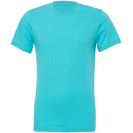 Unisex Jersey Crew Neck T-Shirt in Teal von Canvas (Artnum: CV3001
