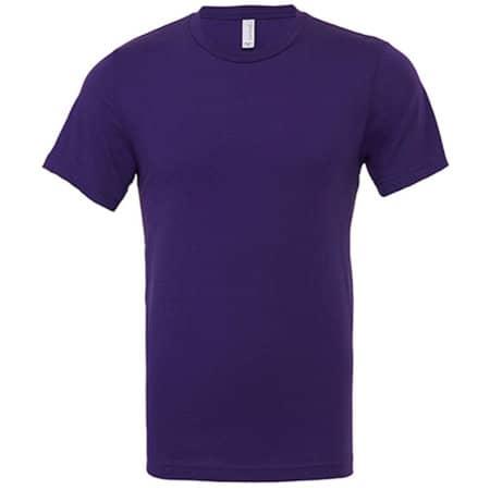 Unisex Jersey Crew Neck T-Shirt in Team Purple von Canvas (Artnum: CV3001
