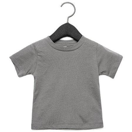 Baby Jersey Short Sleeve Tee in Asphalt (Solid) von Canvas (Artnum: CV3001B