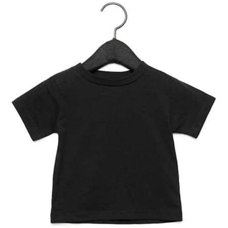 Baby Jersey Short Sleeve Tee in Black von Canvas (Artnum: CV3001B