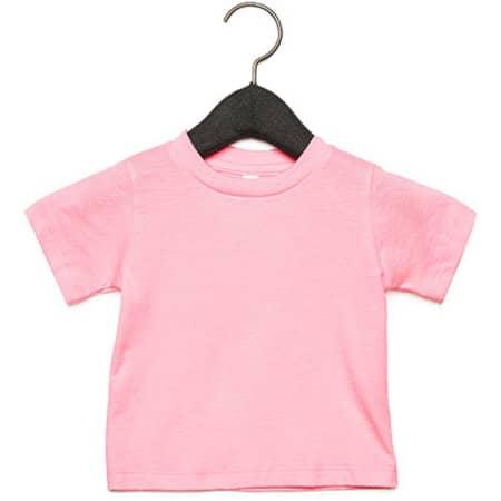 Baby Jersey Short Sleeve Tee in Pink von Canvas (Artnum: CV3001B
