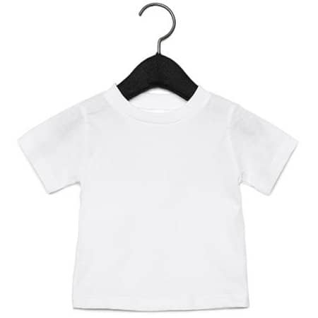 Baby Jersey Short Sleeve Tee in White von Canvas (Artnum: CV3001B