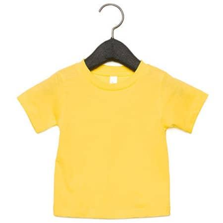Baby Jersey Short Sleeve Tee in Yellow von Canvas (Artnum: CV3001B