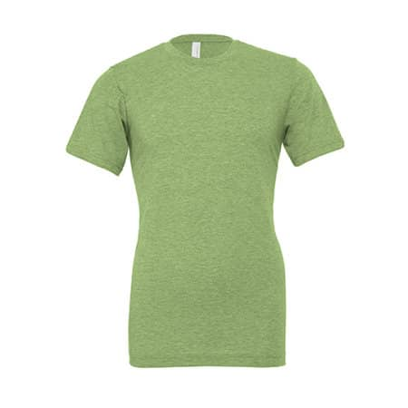 Unisex Heather CVC Short Sleeve Tee in Heather Green von Canvas (Artnum: CV3001CVC