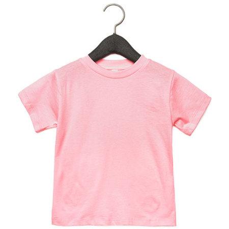 Toddler Jersey Short Sleeve Tee in Pink von Canvas (Artnum: CV3001T