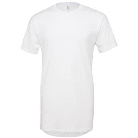 Men`s Long Body Urban Tee in White von Canvas (Artnum: CV3006