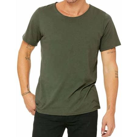 Men`s Jersey Raw Neck Tee in Military Green von Canvas (Artnum: CV3014