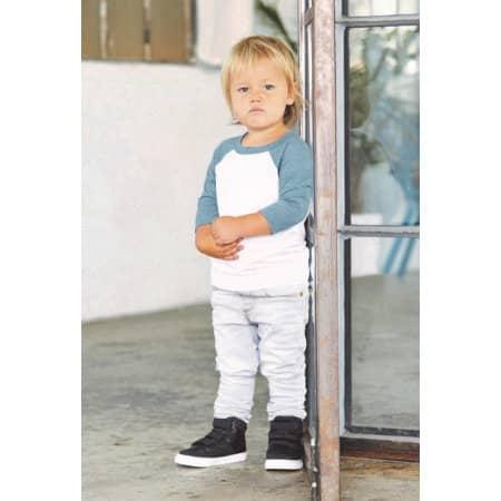 Toddler 3/4 Sleeve Baseball Tee von Canvas (Artnum: CV3200T