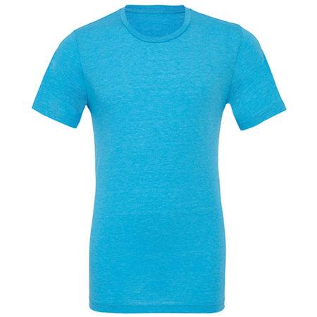Unisex Triblend Crew Neck T-Shirt in Aqua Triblend (Heather) von Canvas (Artnum: CV3413