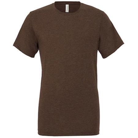 Unisex Triblend Crew Neck T-Shirt in Brown Triblend (Heather) von Canvas (Artnum: CV3413