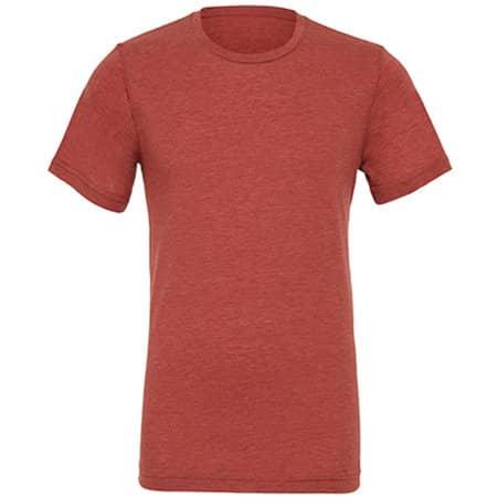 Unisex Triblend Crew Neck T-Shirt in Clay Triblend (Heather) von Canvas (Artnum: CV3413