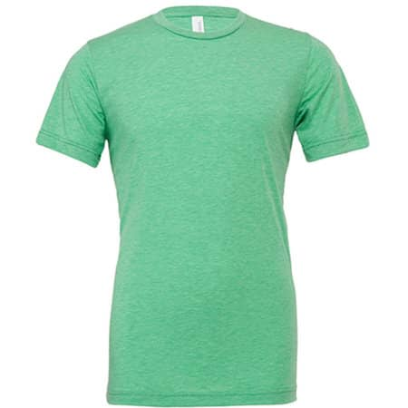 Unisex Triblend Crew Neck T-Shirt in Green Triblend (Heather) von Canvas (Artnum: CV3413