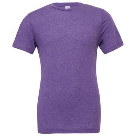Unisex Triblend Crew Neck T-Shirt in Purple Triblend (Heather) von Canvas (Artnum: CV3413