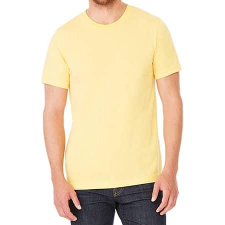 Unisex Triblend Crew Neck T-Shirt in Yellow Gold Triblend (Heather) von Canvas (Artnum: CV3413