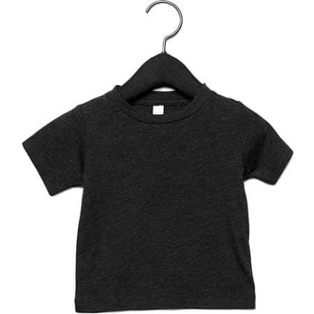 Baby Triblend Short Sleeve Tee in Charcoal-Black Triblend (Heather) von Canvas (Artnum: CV3413B