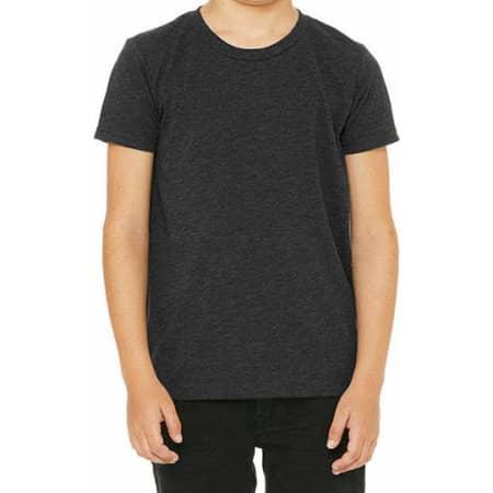 Youth Triblend Jersey Short Sleeve Tee in Charcoal-Black Triblend (Heather) von Canvas (Artnum: CV3413Y
