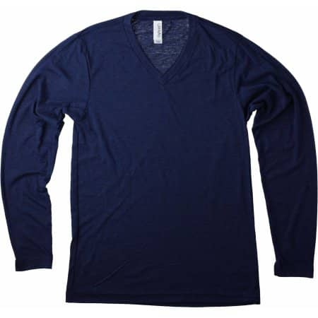 Unisex Jersey Long Sleeve V-Neck T-Shirt von Canvas (Artnum: CV3425