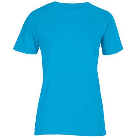 Women`s Fashion Organic-T in Turquoise von Promodoro (Artnum: E3012