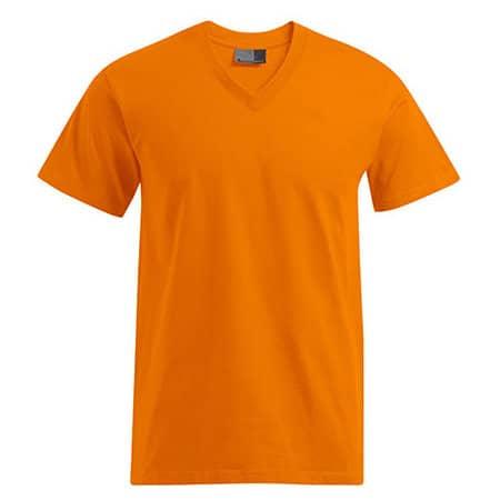 Premium V-Neck-T in Orange von Promodoro (Artnum: E3025