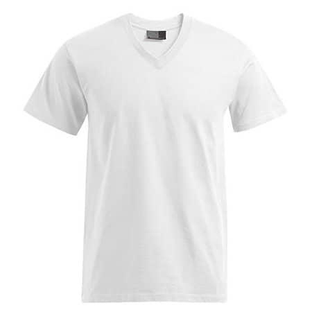 Premium V-Neck-T in White von Promodoro (Artnum: E3025
