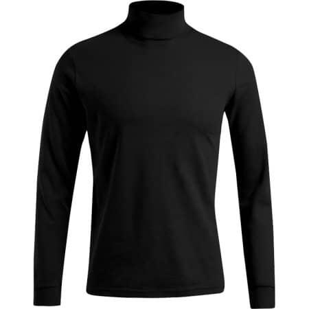 Men`s Turtleneck-T LS in Black von Promodoro (Artnum: E3407
