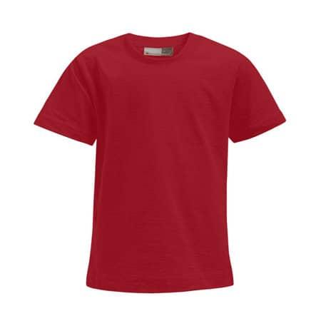 Kids` Premium-T in Fire Red von Promodoro (Artnum: E399
