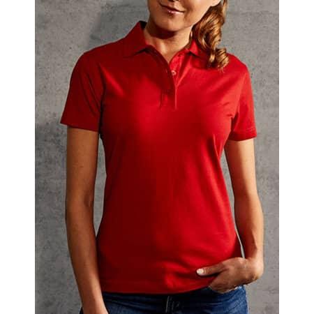 Women`s Jersey Polo in Fire Red von Promodoro (Artnum: E4025