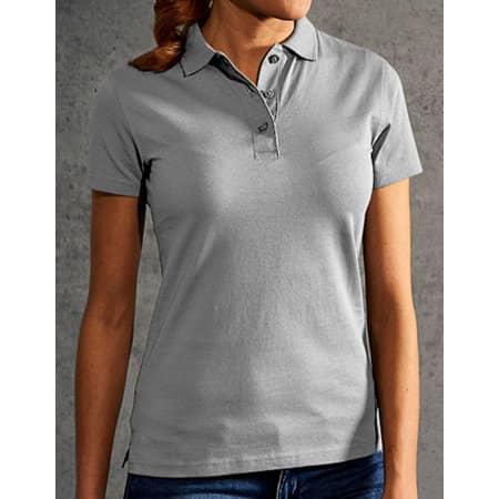 Women`s Jersey Polo in New Light Grey (Solid) von Promodoro (Artnum: E4025