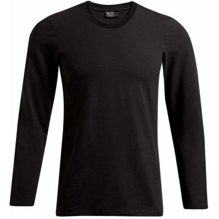 Men`s Slim Fit-T Longsleeve in Black von Promodoro (Artnum: E4081