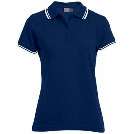 Women`s Polo Contrast Stripes von Promodoro (Artnum: E4910