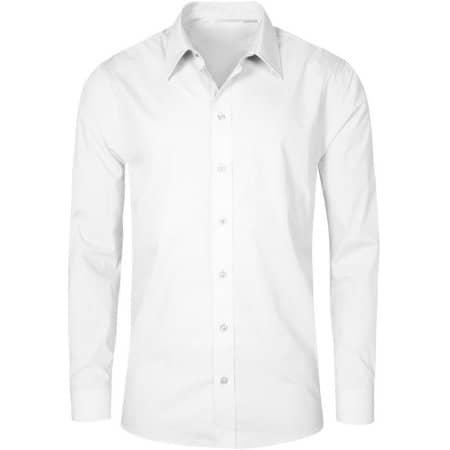 Men`s Poplin Shirt Long Sleeve in White von Promodoro (Artnum: E6310