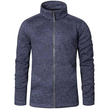 Men`s Knit Fleece Jacket C+ in Heather Blue von Promodoro (Artnum: E7720
