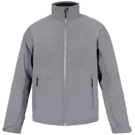 Men`s Softshell Jacket C+ in Steel Grey (Solid) von Promodoro (Artnum: E7820