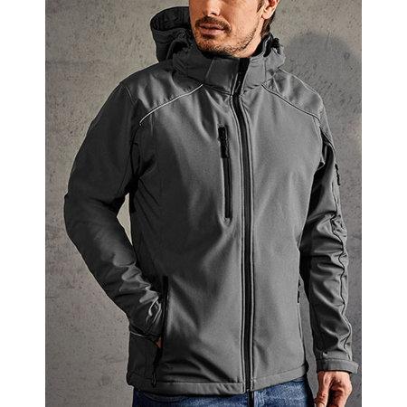 Men`s Softshell Jacket in Steel Grey (Solid) von Promodoro (Artnum: E7850